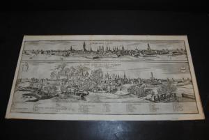 Kupferstich - Ansicht von Münster vor der Belagerung - Wien 1670