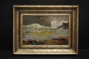 Friedrich Raupp - Küstenlandschaft mit stürmischer See - 1910-1920