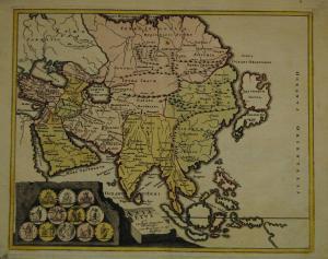 Asia vetus – Altkolorierte Karte, Nürnberg 1720