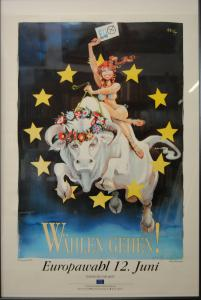 Horst Haitzinger - Europawahl 12. Juni 1994 - Plakat - signiert - Rarität