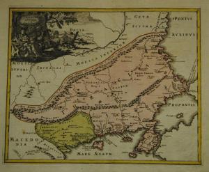 Thrakien – Griechenland – Altkolorierte Karte – 1720