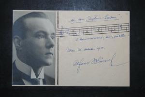 Blümel - Komponist - Eigenh. musikalisches Albumblatt mit Unterschrift -1932