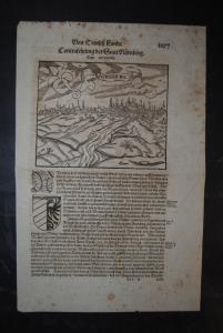 Holzschnitt - Contrafehtung der Statt Nürnberg - ca. 1580