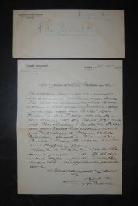 Baselt - Komponist - Eigenhändiger Brief mit Unterschrift u. mit Kuvert - 1906