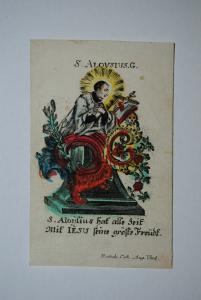 Hl. Aloysius – Altkolorierter Kupferstich – Augsburg, Remmele, ca. 1780