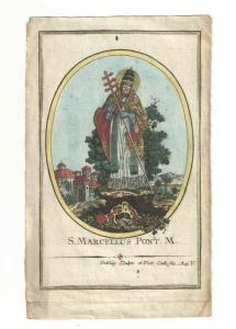 S. Marcellus Pont. M - Kupferstich - Augsburg - um 1800