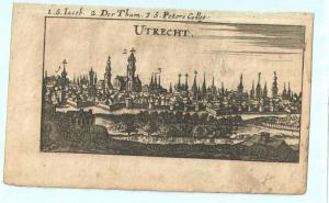 """Utrecht - Kupferstich von Riegel – aus """"der Rheinstrom"""" - um 1690"""