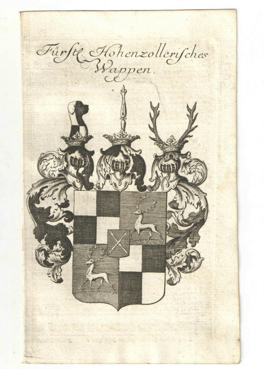 Fürstl. Hohenzollerisches Wappen – Kupferstich 1756 0