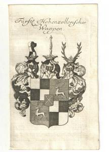 Fürstl. Hohenzollerisches Wappen – Kupferstich 1756