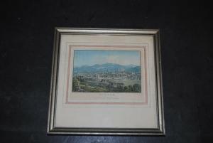 St. Gallen - Vue de St. Gall, vers le mont Freudenberg - um 1835