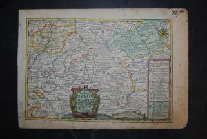 Kupferstichkarte - Leipzig - Die Aemter Borna, Pegau, und Coldiz - 1749
