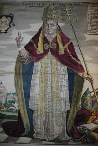 Pontificum Romanorum Series Chronologica - Kupferstich - 1728