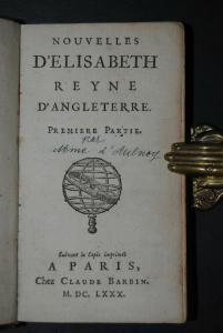 Aulnoy - Nouvelles d'Elisabeth Reyne d'Angleterre - 1680