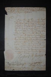 Eugen, Prinz v. Savoyen - Brief mit eigenhänd. Unterschrift -  Mailand 1709