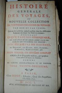 Prevost - Histoire generale des voyages - Band 32 - 1750