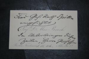 Bruch - Komponist - Eigenhändige Visitenkarte - 1906