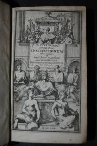 Justinian - Institutionum libri quatuor - 1760