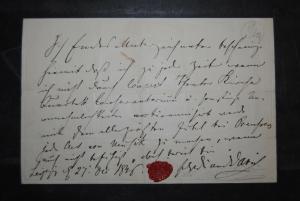 David - Komponist, Geiger und Violinlehrer - eigenh. Schriftstück- 1846