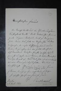 Eckert - Komponist - Eigenhändiger Brief mit Unterschrift - 1874