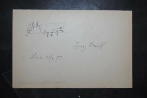 Brüll - Komponist u. Pianist - Eigenh.musikalisches Albumblatt mit Unterschrift