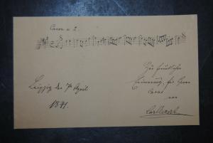 Eckert - Komponist - Eigenh. musikalisches Albumblatt mit Unterschrift - 1841