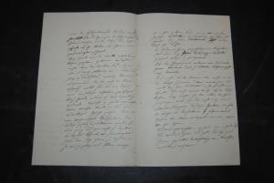 Flotow - Komponist - Eigenh. Brief mit Unterschrift. 3 und 1/2 Seiten - 1858