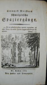 Meister - Schweizersche Spaziergänge – St. Gallen 1789