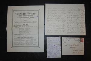 Dietrich - Komponist - Eigenhändiger Brief mit Unterschrift - 1888