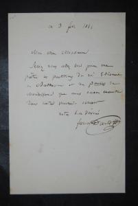 David - Komponist - Eigenhändiger Brief mit Unterschrift - 1855