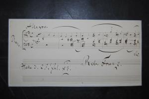 Franz - Komponist - Eigenhändiges musikalisches Albumblatt - 1883