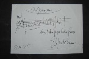 Einem - Eigenhändiges musikalisches Albumblatt mit Unterschrift -1977