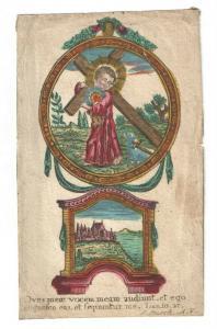 Jesuskind – Altkolorierter Kupferstich von I. Busch - Augsburg 1760