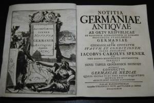 Spener – Notitiae Germaniae antiquae – 1717    4 Karten