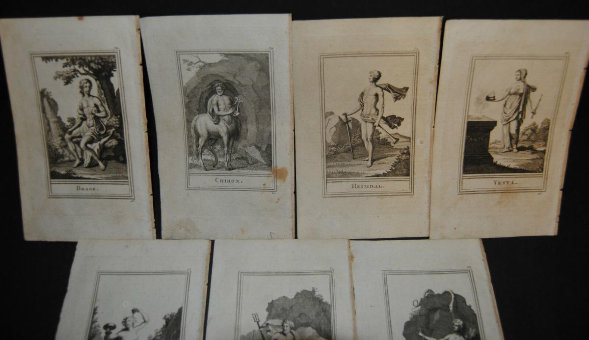 Skizzen in Kupfern – Mythologie – 10 lose Tafeln - Reilly 1803 0
