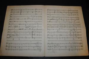 Frischen - Komponist u. Dirigent - Eigenh. Musikmanuskript mit Unterschrift