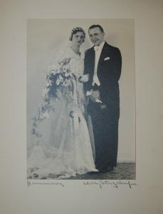 Burgdorf - Brautpaar - Photographie 1935 - signiert