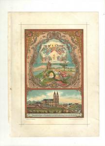Wallfahrt Vierzehnheiligen in Frankenthal - Chromolithographie 1900