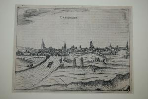 Lauingen – Kupferstich von Bertius – Amsterdam um 1616