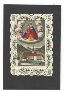 St. Maria in Lankowiz – Altkoloriertes Wallfahrtsbildchen – Ca. 1860-70
