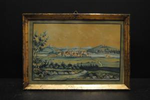 Eberz - Gouache auf Papier - Burglengenfeld - 1854