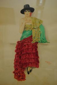 Riba - Aquarell - Spanierin - 1931