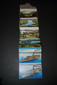 Album vom Starnberger See - Leporello mit 15 farbigen Postkarten - 1915