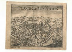 Kairo – Gesamtansicht - Kupfersicht aus Myller, Peregrinus - 1730