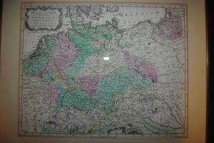 Altkolorierte Kupferstichkarte - A New and Accurate Map of Germany - 1759