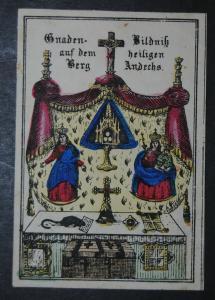 Andechs – Gnadenbild – Altkolorierte Lithographie – Um 1845