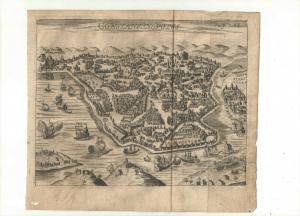 Konstantinopel – Gesamtansicht - Kupfersicht aus Myller, Peregrinus - 1730