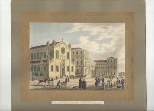 Lithographie - altkoloriert - Allerheiligen Hofkapelle -  München - ca. 1839
