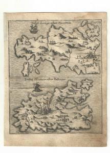 Patmos - Lango - Kupfersicht aus Myller, Peregrinus - 1730