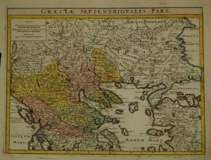 Graeciae Septentrionalis pars – Altkolorierte Karte, Nürnberg 1720