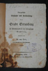 Lori – Geschichte von Straubing - 1830